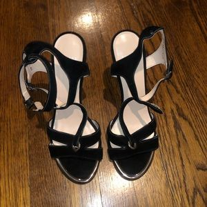 Stuart Weitzman black heel leather sole